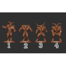 LORDS OF CORRUPTION BEASTMAN PACK WM - Willy Miniatures
