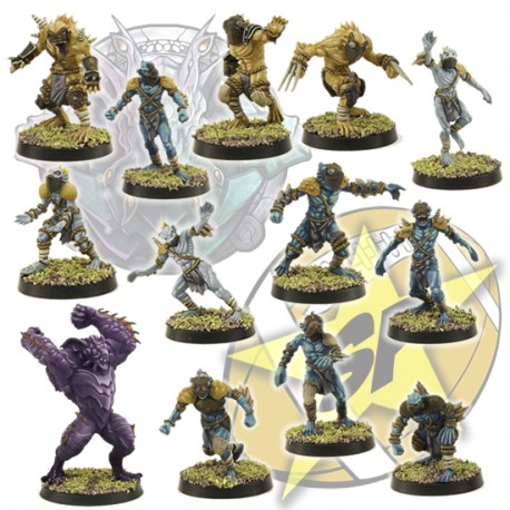 Basic Deep Ones team x 12 + 1 SP Miniatures