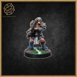 HUMAN STAR PLAYER WITH CHAINSAW WM - Willy Miniatures