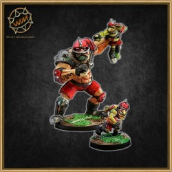OGRE + GOBLIN STAR PLAYER WM - Willy Miniatures