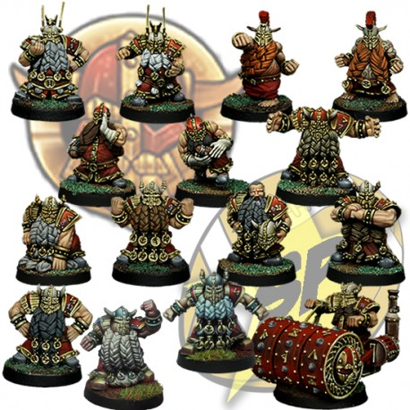 Dwarf Team x14 + deathroller SP Miniatures