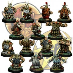Dwarf Team x14 SP Miniatures