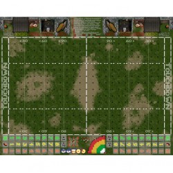Campo Fantasy Football césped desgastado 34mm