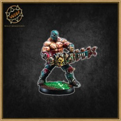 Chaos Star Player with chainsaw WM - Willy Miniatures