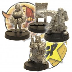 Pack 3 Staff enanos SP Miniatures