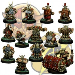 Full Dwarf team x13 SP Miniatures